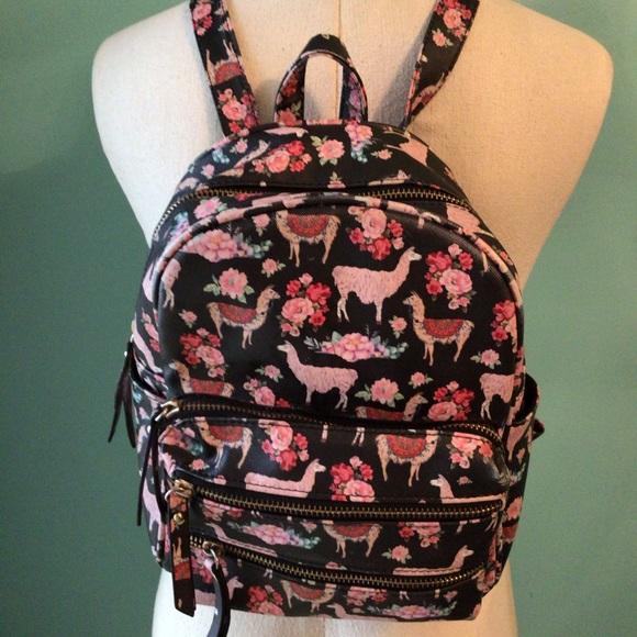 Under One Sky Llama mini backpack